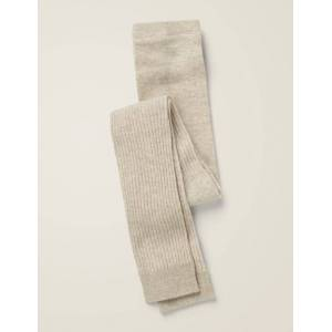 Mini Ribbed Footless Tights Natural Baby Boden  - Unisex - Beige - Size: 11-12y