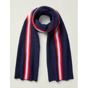 Boden Cashmere Knitted Scarf Navy Men Boden Cashmere Size: ONE