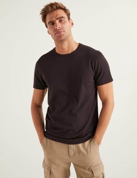 Boden Washed T-shirt Black Men Boden - Male - Black - Size: Medium