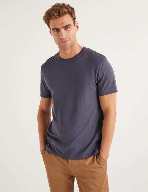 Boden Washed T-shirt Grey Men Boden