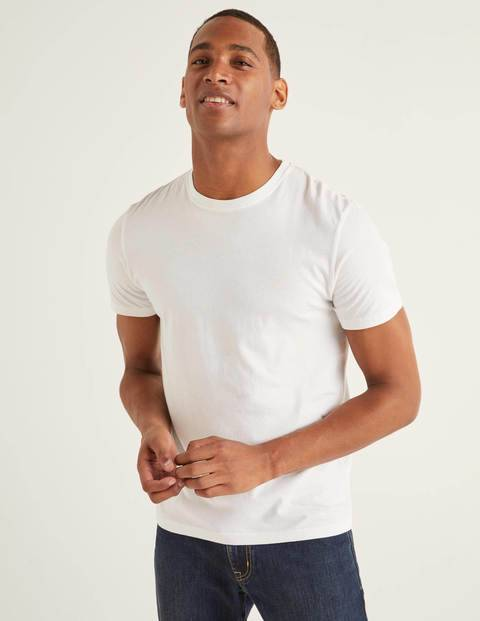 Boden Washed T-shirt White Men Boden - Male - White - Size: Extra Large
