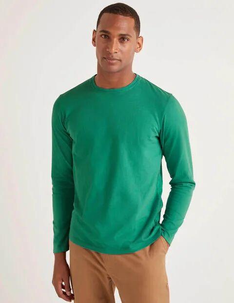 Boden Long Sleeve Washed T-shirt Green Men Boden
