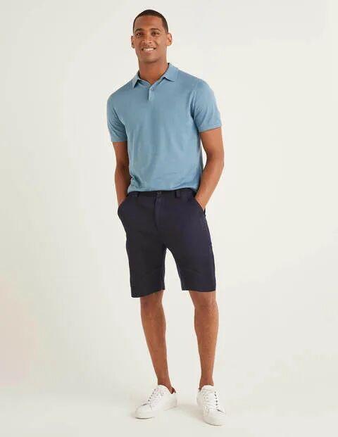 Boden Cotton Linen Utility Shorts Navy Men Boden  - Male - Navy - Size: 40