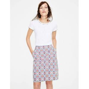 Boden Printed Cotton A-line Skirt Ivory Women Boden  - Female - Ivory - Size: Large