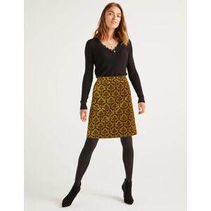 Boden Mimi Velvet Skirt Gold Women Boden  - Female - Gold - Size: Large