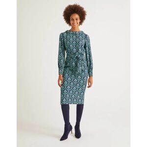 Boden Florrie Dress Navy Women Boden  - Female - Green - Size: 18 R
