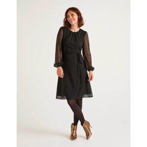 Boden Jenna Embroidered Dress Black Women Boden  Size: 6 R