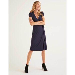 Boden Summer Wrap Dress Navy Women Boden  - Female - Navy - Size: 12 Petite