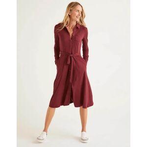 Boden Susannah Jersey Shirt Dress Brown Women Boden  - Female - Brown - Size: 20 R