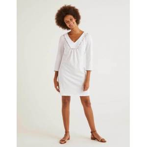 Boden Charlie Jersey Tunic White Women Boden  - Female - White - Size: Large