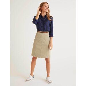 Boden Daisy Chino Skirt Brown Women Boden  - Female - Brown - Size: 16 R