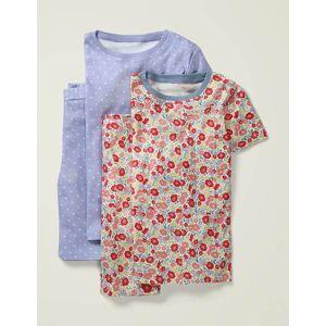 Mini Twin Pack Short John Pyjamas Multi Women Boden  - Female - Pink - Size: 14y