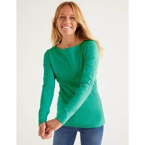 Boden Essential Boatneck Green Women Boden  - Female - Green - Size: Medium
