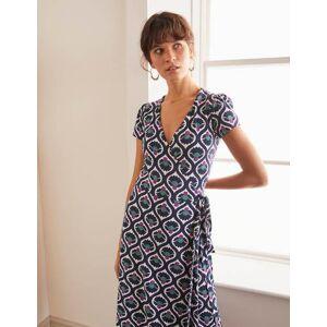 Boden Summer Wrap Dress Navy Women Boden  - Female - Navy - Size: 14 Petite