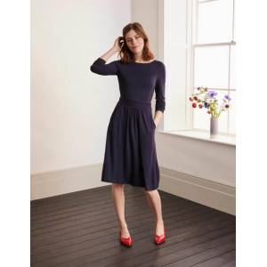 Boden Abigail Jersey Dress Navy Women Boden  - Female - Navy - Size: 16 R