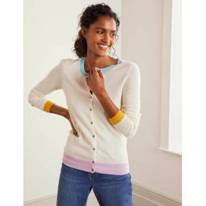 Boden Cashmere Crew Cardigan Ivory Women Boden  - Female - Ivory - Size: Extra Small