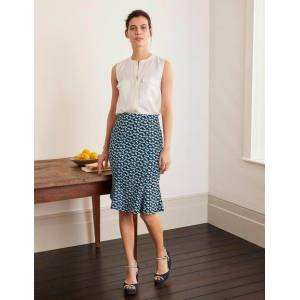 Boden Violette Skirt Navy Women Boden  - Female - Navy - Size: 18