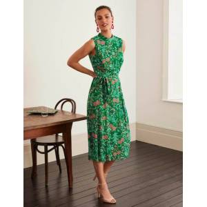 Boden Zada Midi Dress Green Women Boden  - Female - Green - Size: 14