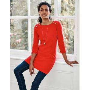 Boden Isabel Ottoman Tunic Red Women Boden  - Female - Navy - Size: 22 R