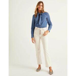 Boden Straight Leg Jeans Ivory Women Boden  - Female - Beige - Size: 18 R
