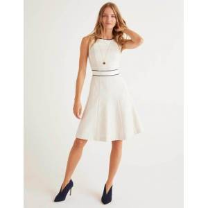 Boden Matilda Textured Dress Ivory Women Boden  - Female - Ivory - Size: Large
