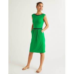 Boden Eleanor Jersey Dress Green Women Boden  - Female - Green - Size: Large