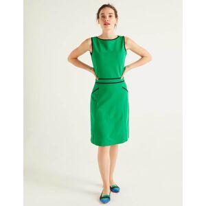 Boden Sabrina Ponte Shift Dress Green Women Boden  - Female - Green - Size: Large