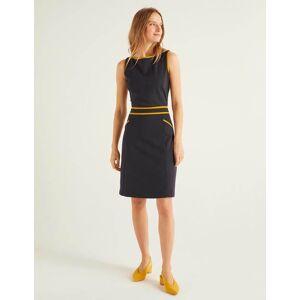 Boden Sabrina Ponte Shift Dress Navy Women Boden  - Female - Navy - Size: Large
