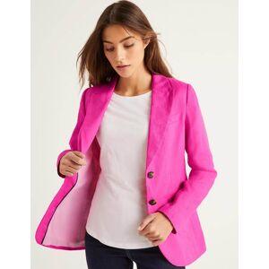 Boden Carrington Linen Blazer Pink Women Boden  - Female - Multi Colored - Size: 6 R