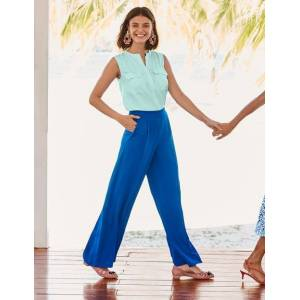Boden Gresham Trousers Blue Women Boden  - Female - Blue - Size: 14 R