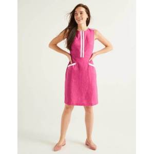 Boden Cleonie Linen Shift Pink Women Boden  - Female - Camel - Size: Large