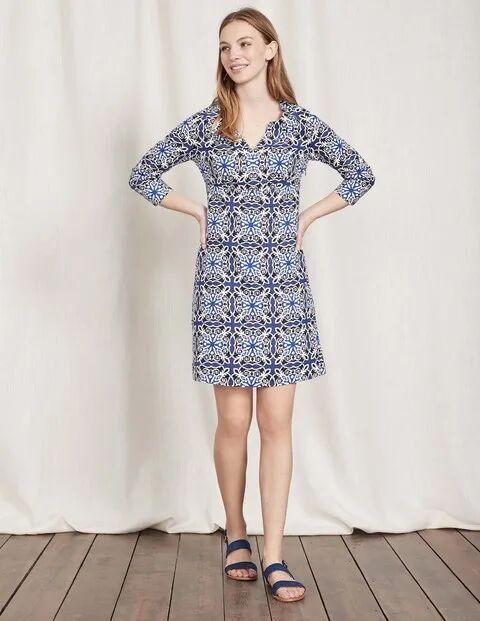 Boden Casual Linen Tunic Blue Women Boden Linen Size: 8 R