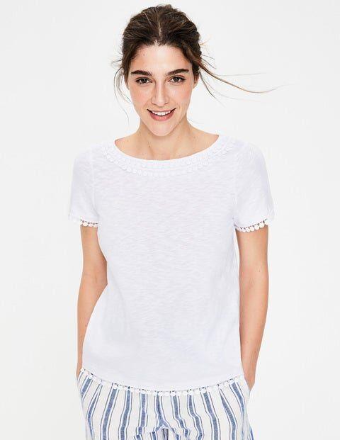 Boden Thelma Jersey T-shirt White Women Boden