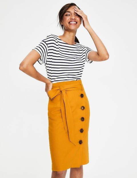 Boden Leonora Skirt Yellow Women Boden  - Female - yellow - Size: 22 R