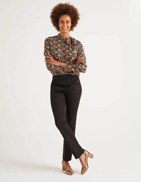 Boden Bath Bi-Stretch Trousers Black Women Boden Cotton Size: 18 R