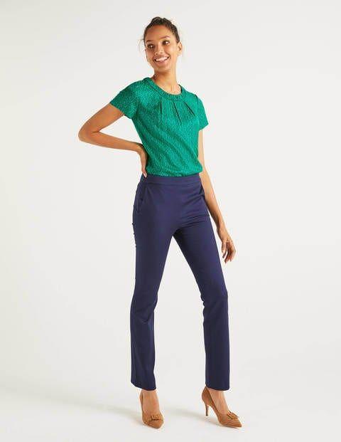 Boden Bath Bi-Stretch Trousers Navy Women Boden  - Female - Navy - Size: Large