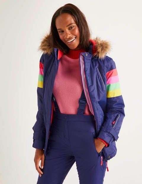 Boden Innsbruck Ski Jacket Blue Women Boden  - Female - Blue - Size: Small