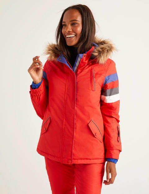 Boden Innsbruck Ski Jacket Red Women Boden  - Female - Navy - Size: Small