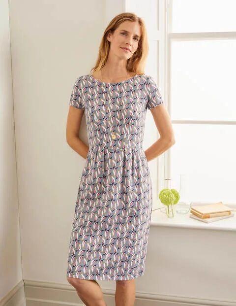 Boden Phoebe Jersey Dress Grey Women Boden  - Female - Grey - Size: 6 R