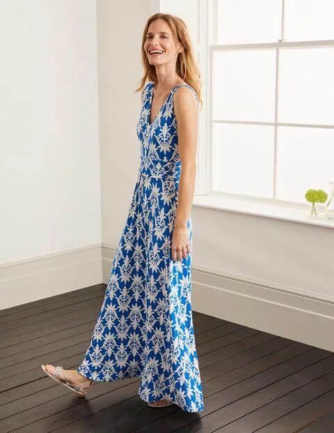 Boden Sienna Jersey Maxi Dress Blue Women Boden  - Female - Blue - Size: 6 R