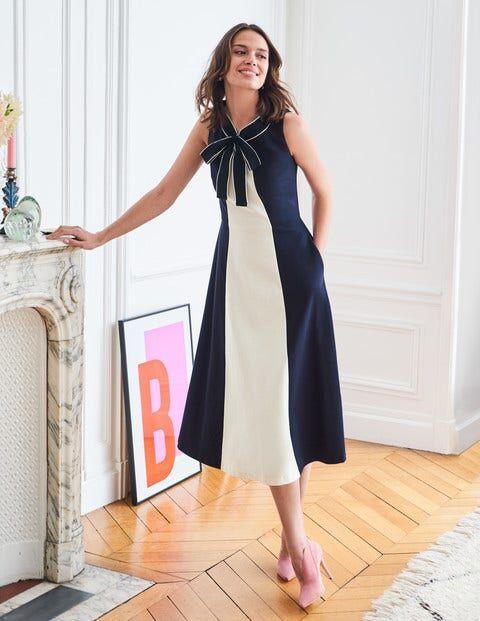 Boden Elise Ponte Dress Navy Women Boden  - Female - Navy - Size: Large