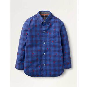 Mini Casual Twill Shirt Blue Boys Boden  - Male - Navy - Size: 6-7y