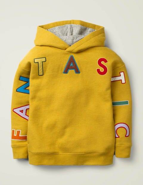 Mini Fantastic Cosy Hoodie Yellow Boys Boden  - Male - yellow - Size: 5-6y