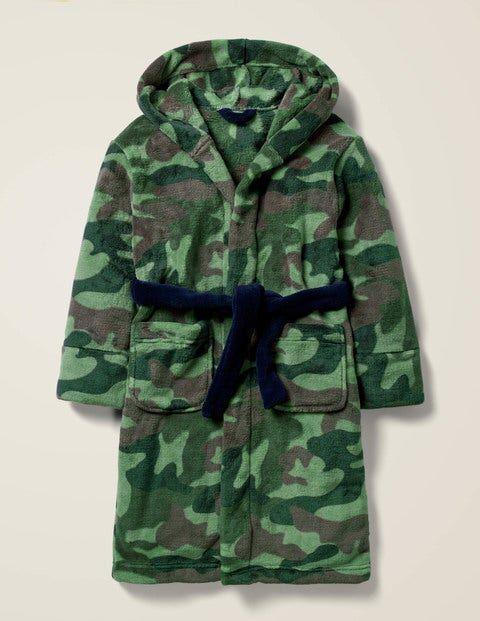 Mini Dressing Gown Green Boys Boden  - Male - Green - Size: 3-4y