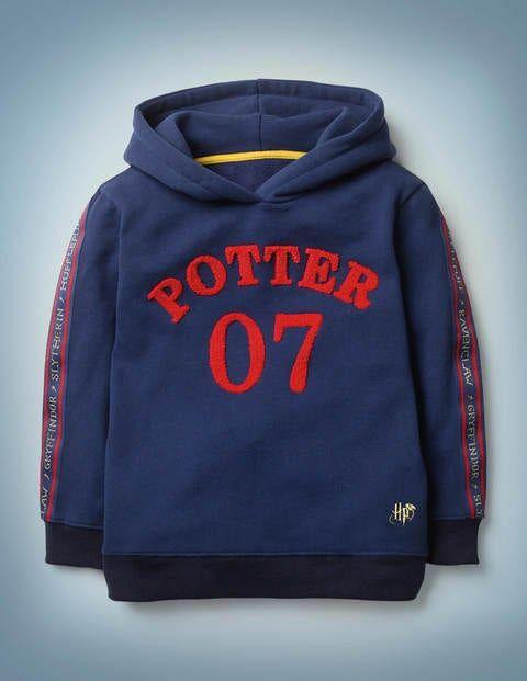 Mini Potter Hoodie Navy Boys Boden Cotton Size: 4-5y