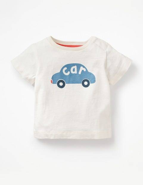 Baby Printed Graphic T-shirt White Baby Boden