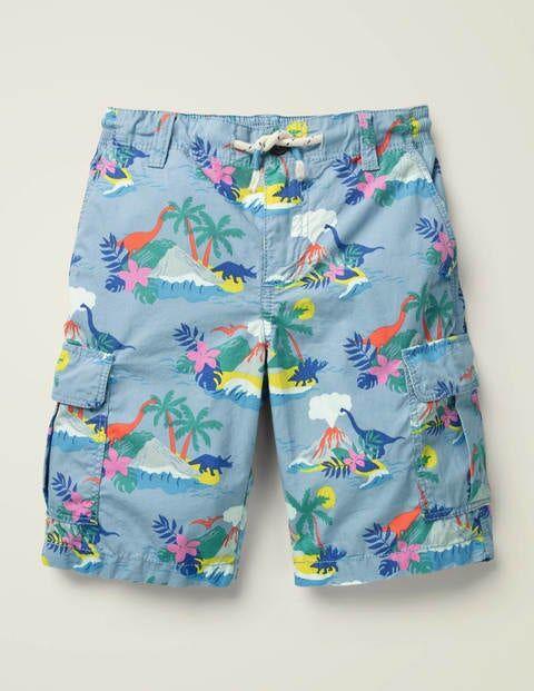 Mini Cargo Shorts Multi Boys Boden  - Male - Blue - Size: 13y