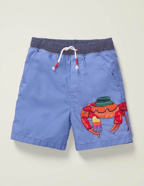 Mini Fun Holiday Shorts Blue Boys Boden Cotton Size: 8y