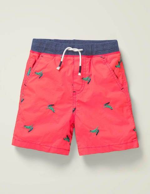 Mini Fun Holiday Shorts Red Boys Boden Cotton Size: 11y