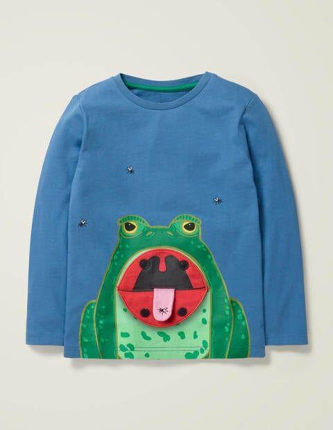 Mini Novelty Long Sleeve T-shirt Blue Boys Boden